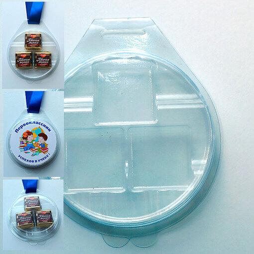 """Блистер-медаль для конфет """"Птичье Молоко"""" малая упаковка 25 шт. 26 руб. за шт."""
